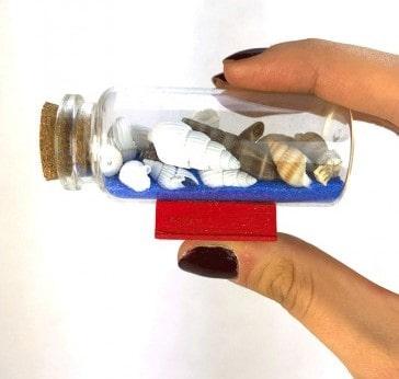 بطری شیشه ای صدف دریایی