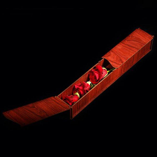 باکس چوبی زیبا گل رز