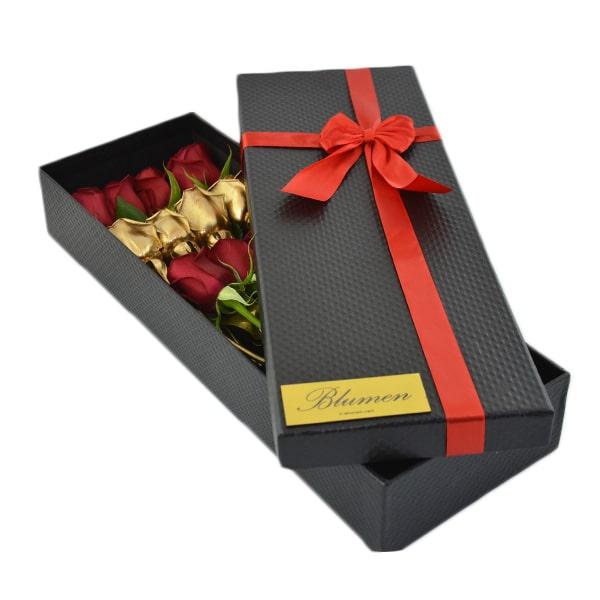 جعبه گل مستطیلی برای ولنتاین