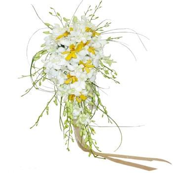 گل عروس با گل ارکیده دندروبیوم