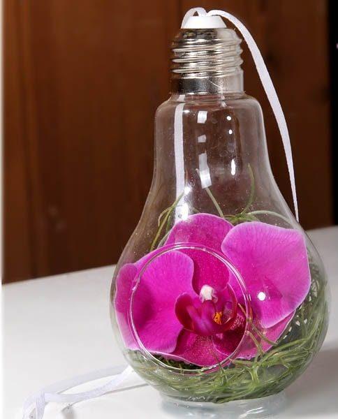 گلدان فانتزی لامپی ارکیده