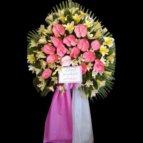 تاج گل یه طبقه برای شادباش